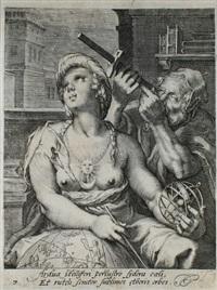 der astronom (from die sieben freien künste mit weiblichen halbfiguren after h. goltzius) by cornelis jacobsz drebbel