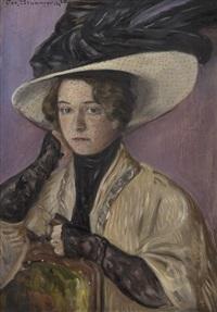 kvinneportrett by oscar gronmyraz