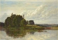 costa de un rio by emile charles lambinet
