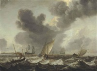 shipping on rough seas by bonaventura peeters the elder