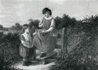 the young flower-gatherers by john mallord bromley