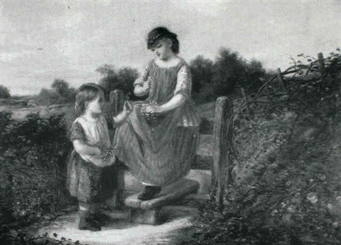 the young flower gatherers by john mallord bromley