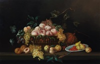 untitled (fruit in basket still life) by jeannine albert