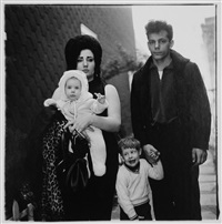a young family in brooklyn going for a sunday outing, new york by diane arbus