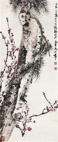 pine tree and plum by ma wanli