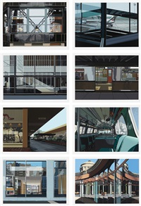 urban landscapes no. 3 (set of 8) by richard estes