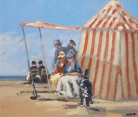 family at the beach by frederick mcduff