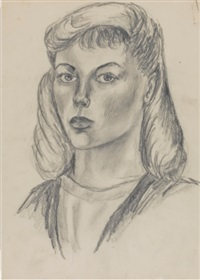 self-portrait aged 17 by sylvia plath