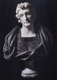 bust of a saint (st. damien or st. cosmos ?) by pierre legros the younger