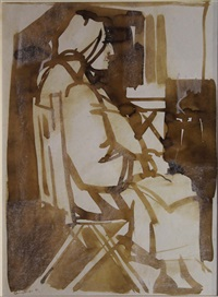 lady sitting by george campbell