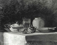 tabletop still life set for desert by adelina katona madarasz
