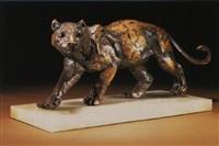 a walking leopard by sally arnup