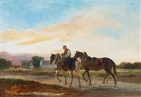 horseman returning home by alois bach