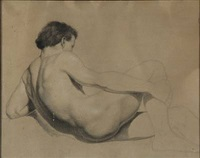 model study of a young man lying down by peder severin krøyer
