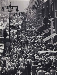 lunch rush on fifth avenue, new york city by andreas feininger