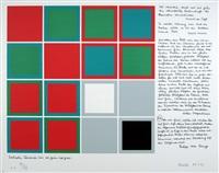fünf farbfolgen über das farbkontinuum (portfolio of 5 w/title) by heinz kreutz