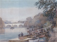 the thames at richmond by alfred john billinghurst