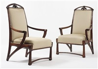 pair of armchairs by pierre selmersheim