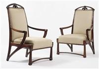 pair of armchairs by pierre selmersheim