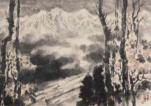 喜马拉雅山 landscape by xu beihong