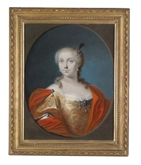 bildnis einer aristokratischen dame (pair) by antonio david