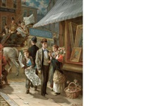 our street of publishers by augustus edwin mulready