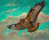 fliegender steinadler by michael kiefer