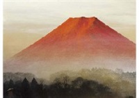 red fuji by misao yokoyama