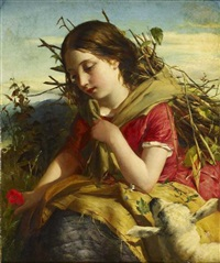 the young shepherdess by robert herdman