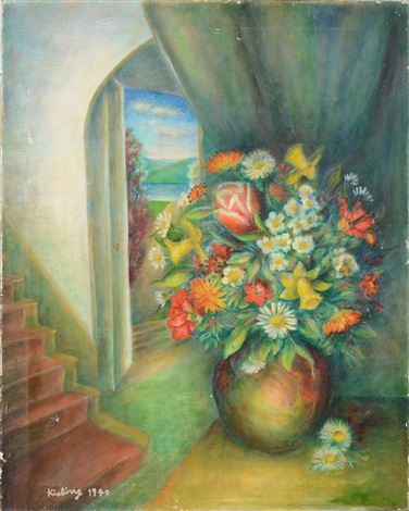 still life with vase and flowers by moïse kisling