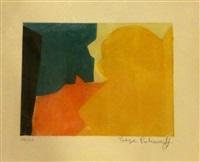 composition verte, rouge et orange by serge poliakoff