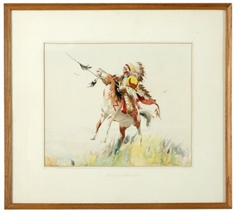 sioux warrior by gerard curtis delano