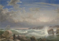rafe's chasm, gloucester, massachusetts by fitz henry lane