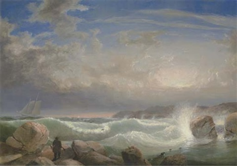 rafes chasm gloucester massachusetts by fitz henry lane