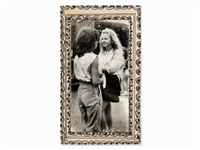 two girls, cssr, /80s by miroslav tichý