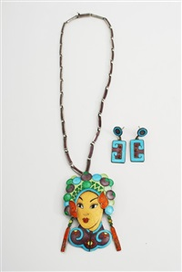 necklace (+ earrings; set of 2) by margot de taxco
