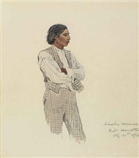 david pharoah, the last of the montauks by winslow homer