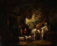 hunters resting at an in by george morland