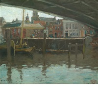 underneath the bridge, amsterdam by henry ward ranger