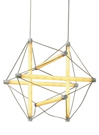 six light- wire hanging light structure (collab. w/ingo maurer) by peter hamburger