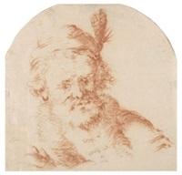 männerkopf mit mütze by salomon koninck