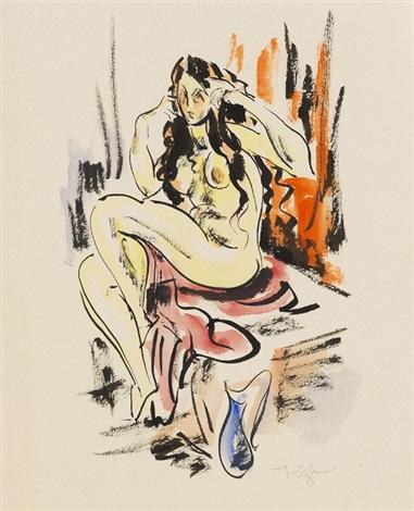 sitzender weiblicher akt by richard ziegler