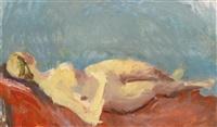 liegender weiblicher akt by leon abramowicz