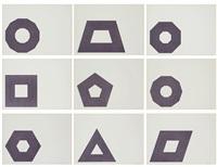 purple series (9) by frank stella