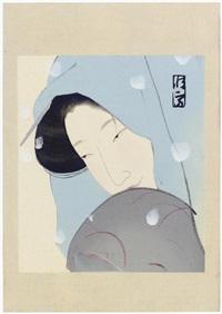 meido no hikyaku no umekawa (from dai chikamatsu zenshu furoku mokuhan) by tsunetomi kitano