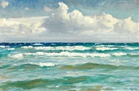 breaking the waves off skagen by michael peter ancher