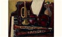 nature morte aux instruments de musique by joseph mompou