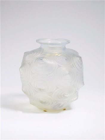 A Clear Pressed Glass Vase By Marius Ernest Sabino On Artnet