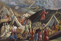 moses ascending the mountain by thomas nash