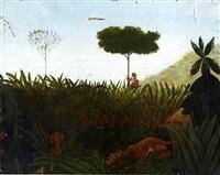 jungle by henri rousseau